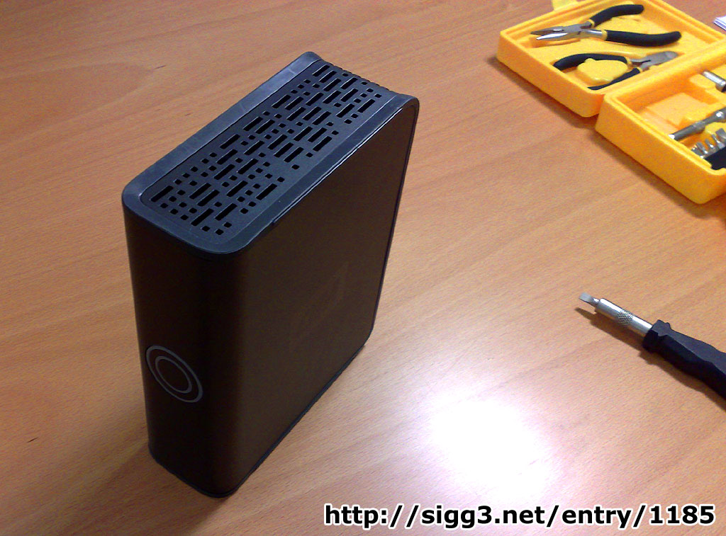 HOWTO open the Western Digital 500GB MyBook Premium Edition