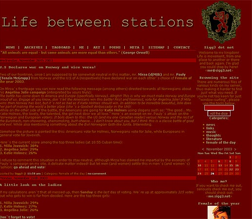 Life between stations