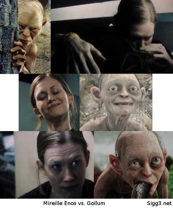 Mireille Enos and Gollum